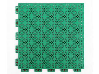 弹性菱花纹悬浮拼装地板