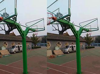 地埋式方管海燕式篮球架
