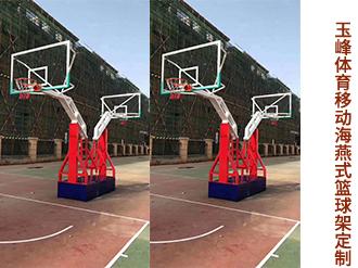 移动海燕式篮球架